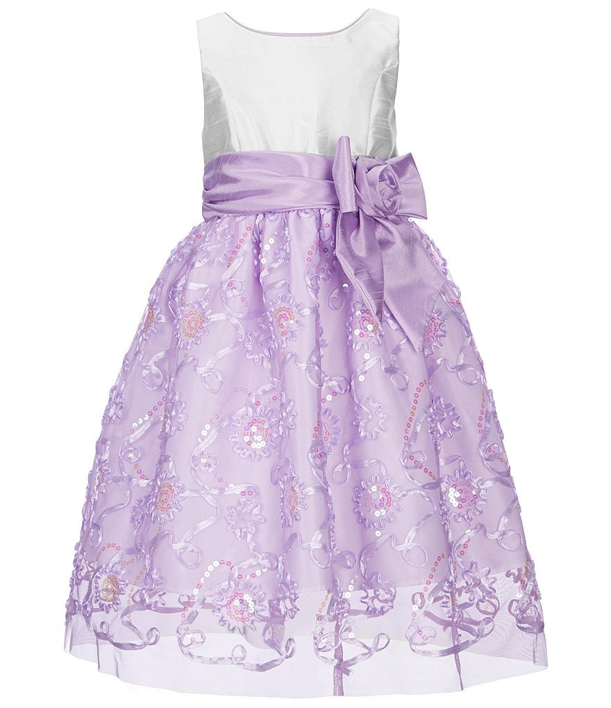 Jayne Copeland Big Girls 7-12 Sequin Soutache Bow Dress