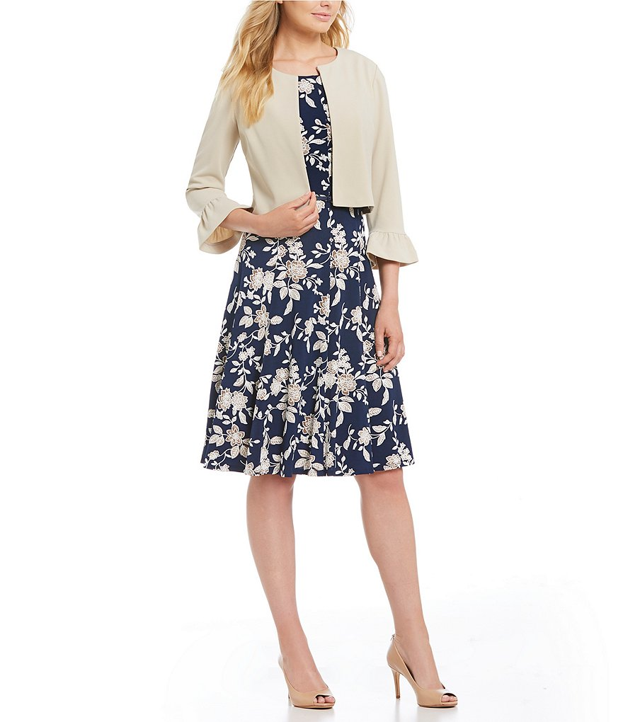 Jessica Howard 2-Piece Printed Jacket Dress