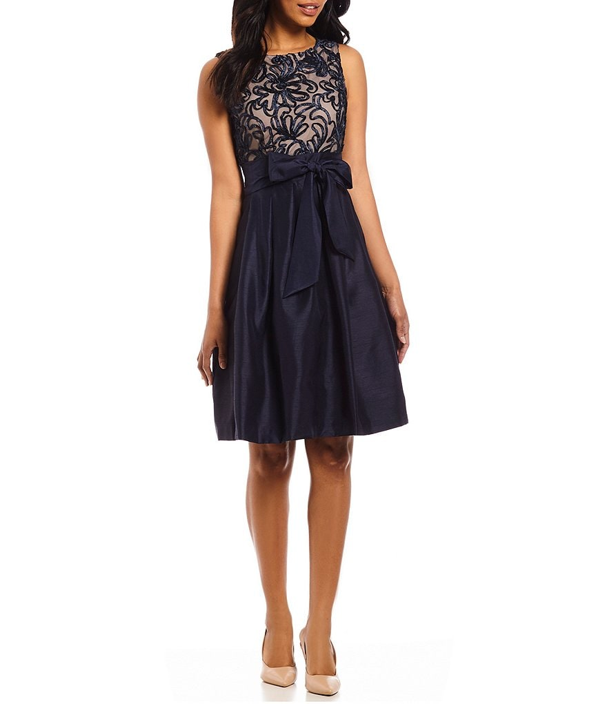 Jessica Howard Embroidered Bodice Dress
