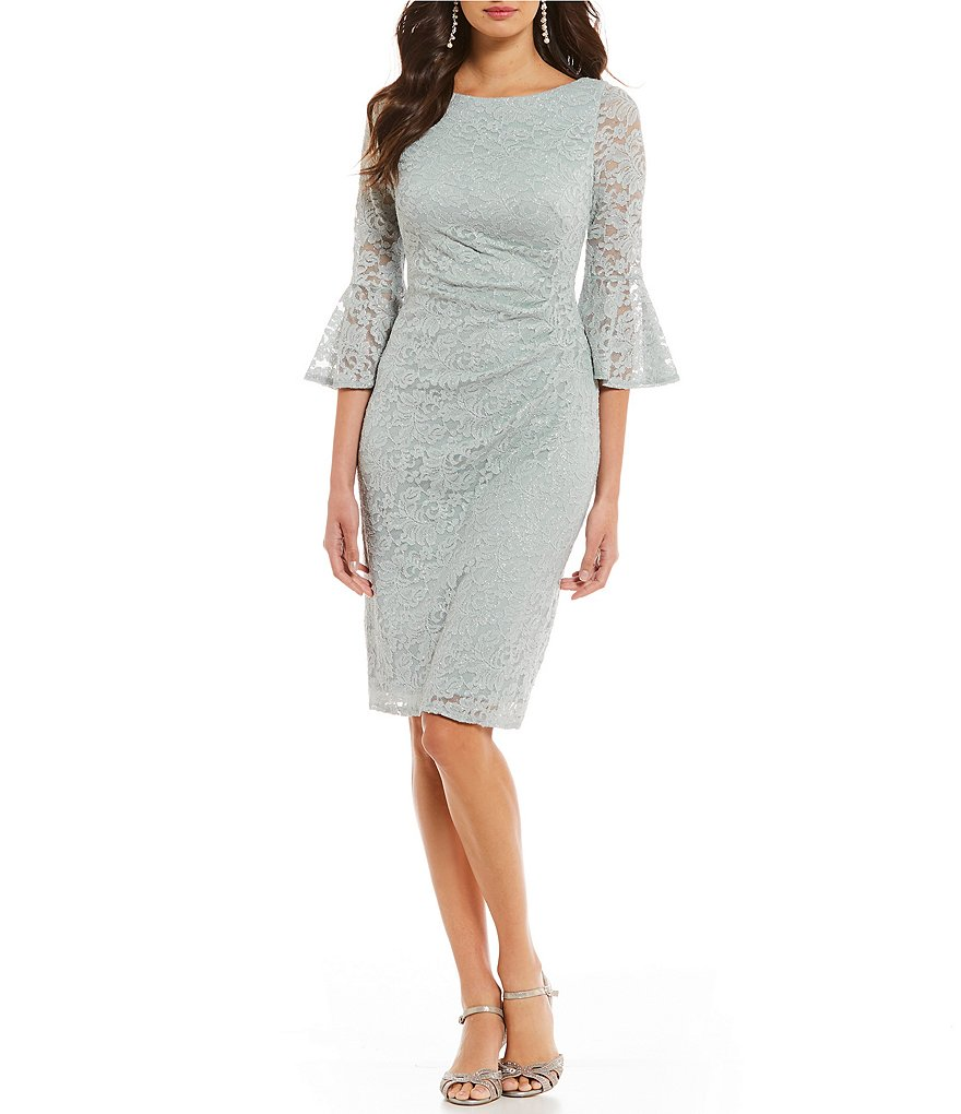 Jessica Howard Lace Bell Sleeve Dress