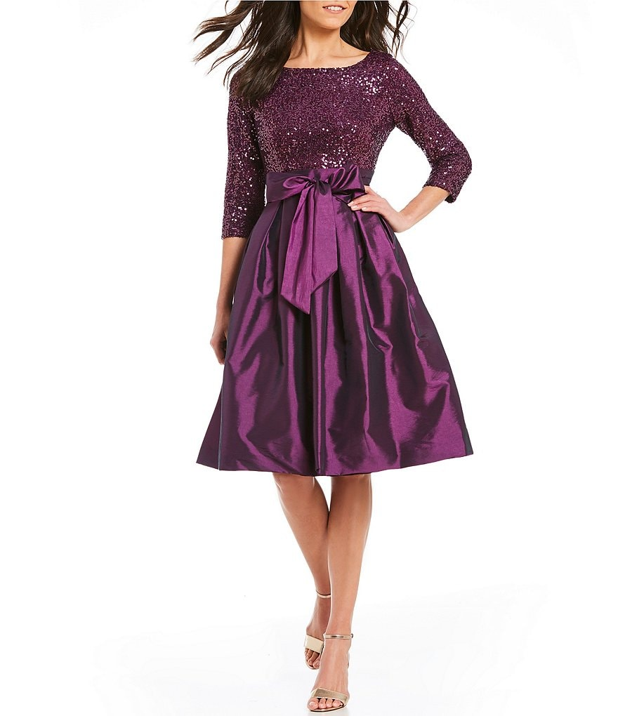 Jessica Howard Petite Sequined Taffeta Party Dress