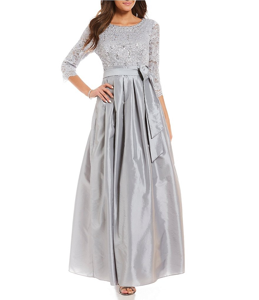 Jessica Howard Pleated Skirt Ball Gown | Dillards