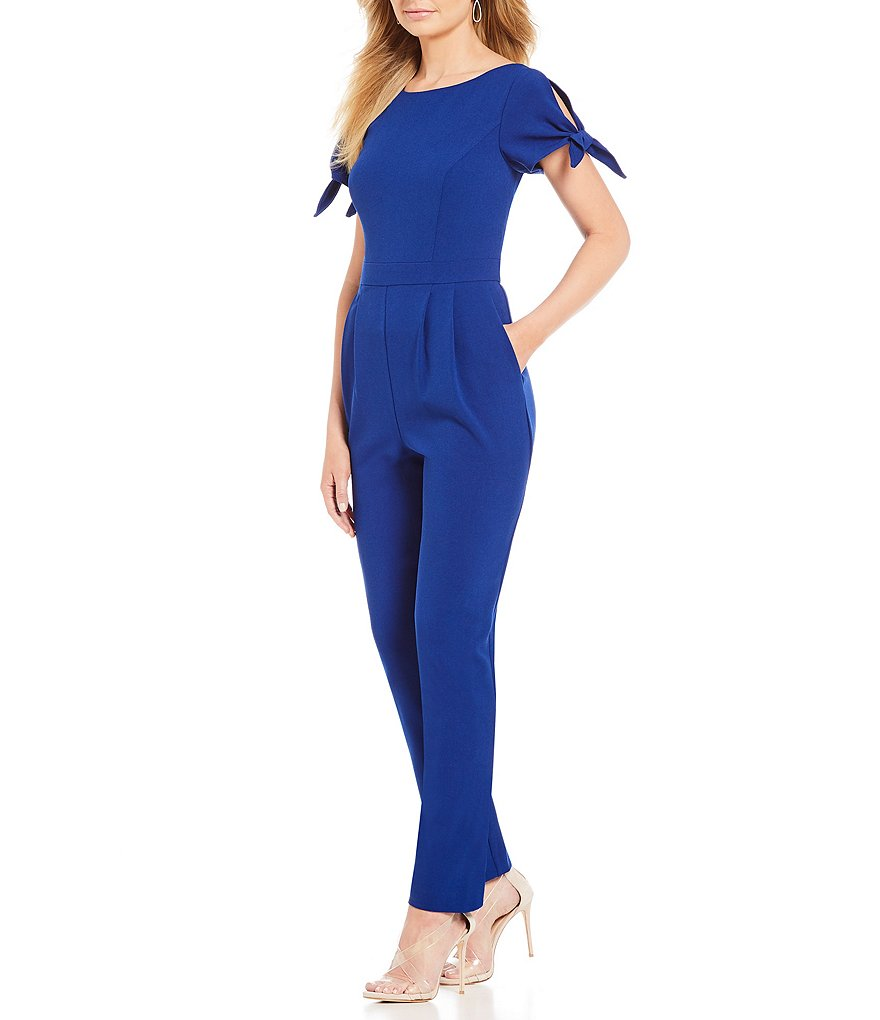 Jessica Howard Tie Sleeve Jumpsuit