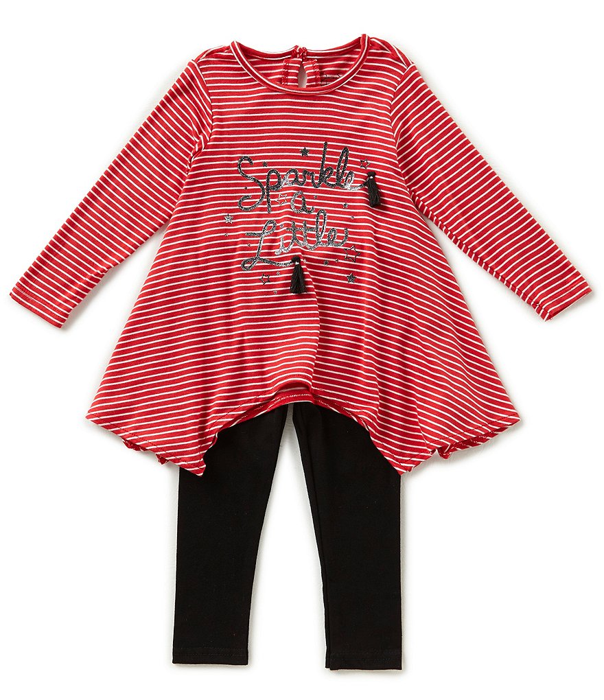 Jessica Simpson Baby Girls 12-24 Months Sparkle Long-Sleeve Top & Leggings Set