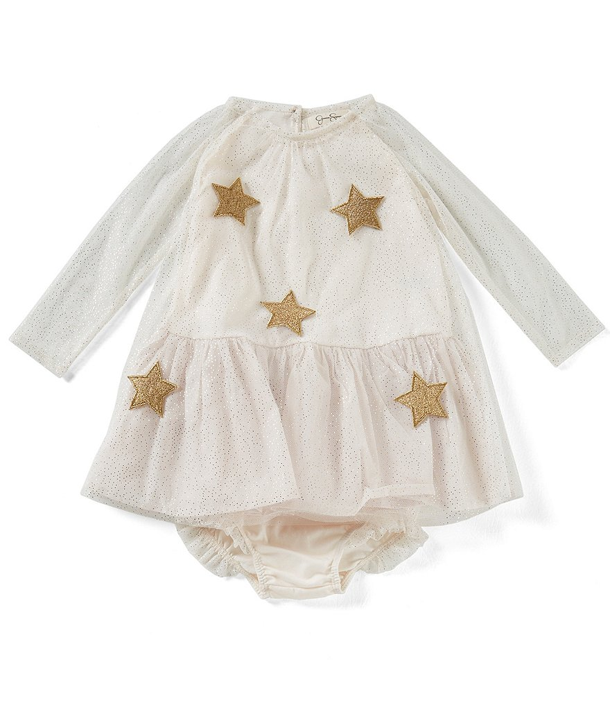 Jessica Simpson Baby Girls 12-24 Months Star-Print Netting Dress