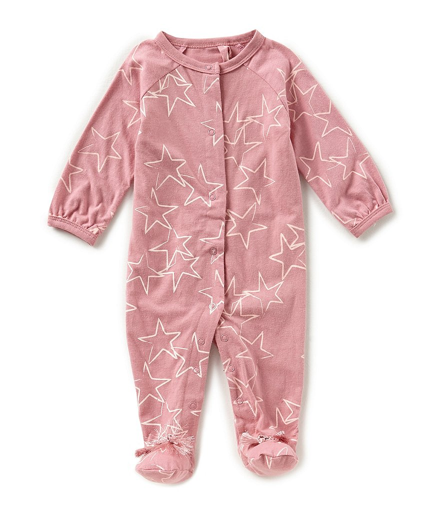 Jessica Simpson Baby Girls Newborn-9 Months Star-Print Footed Coverall