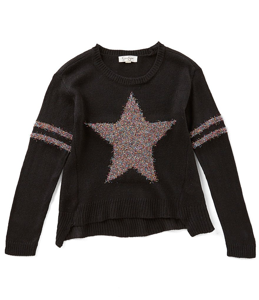 Jessica Simpson Big Girls 7-16 Basil Star Sweater | Dillards