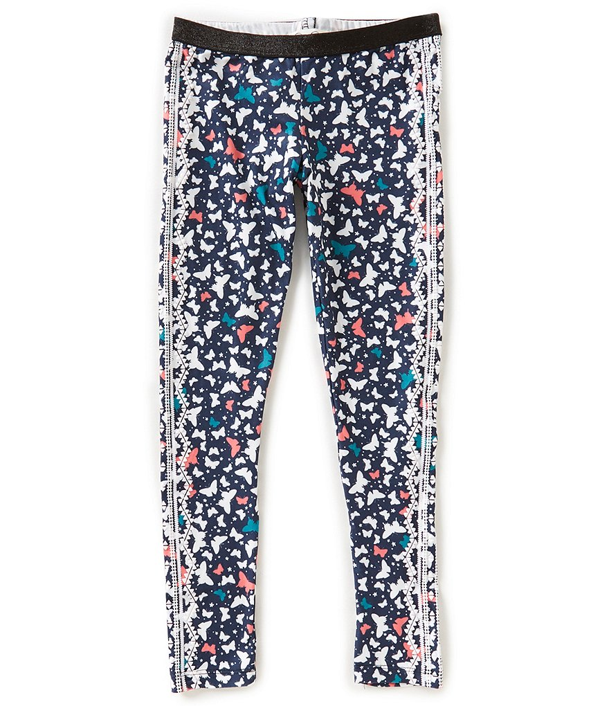 Jessica Simpson Big Girls 7-16 Butterfly-Printed Leggings