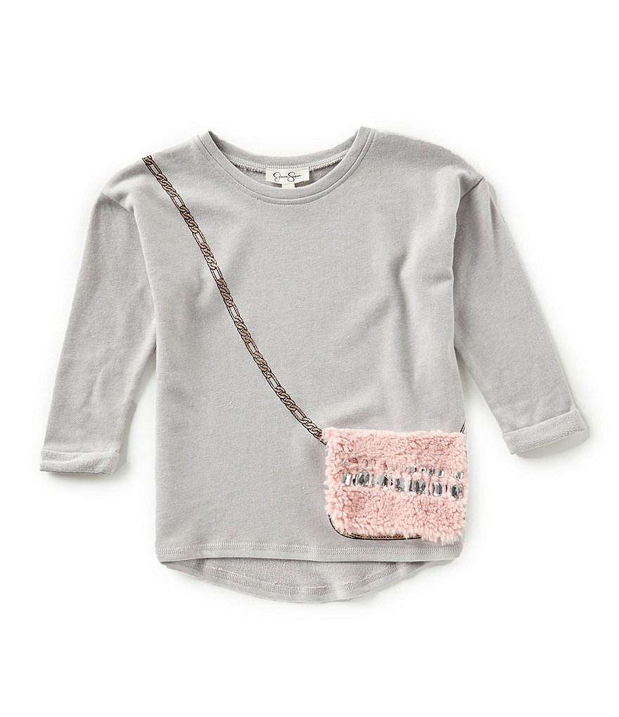 Jessica Simpson Big Girls 7-16 Frankie Purse-Applique Top