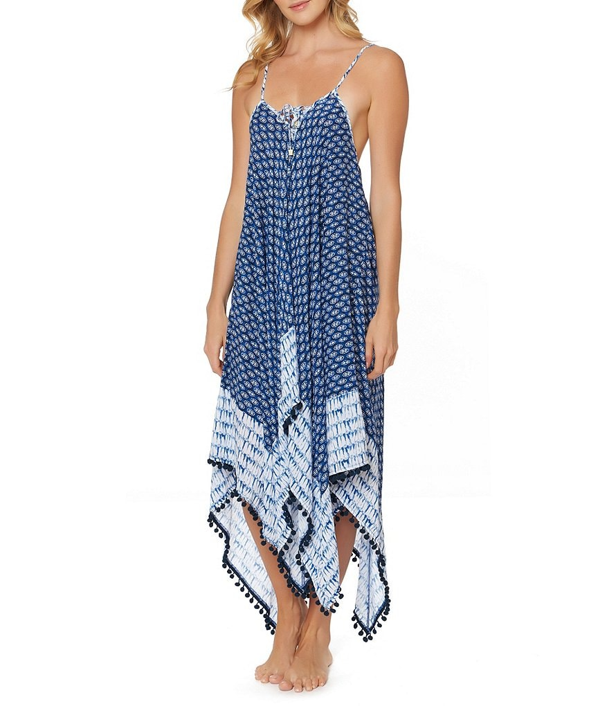 Jessica Simpson Bondi Lace-Up Dress Cover Up