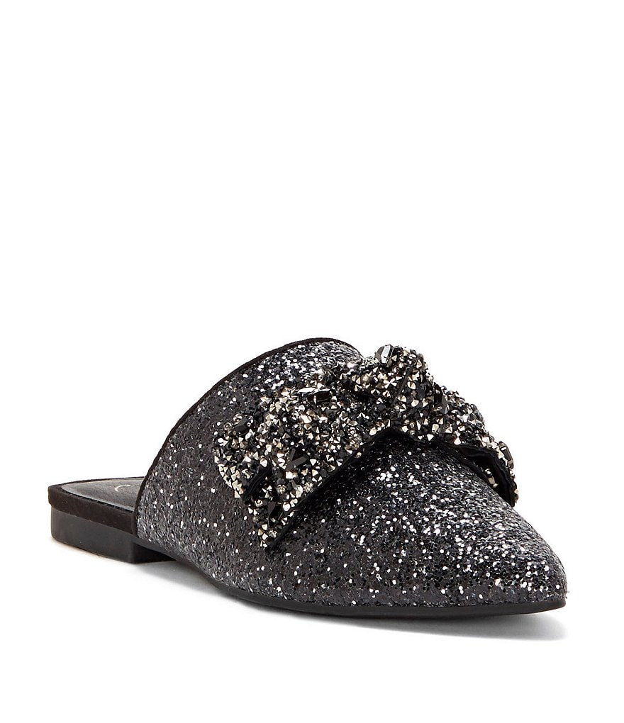 Jessica Simpson Cesely Jeweled Bow Mules