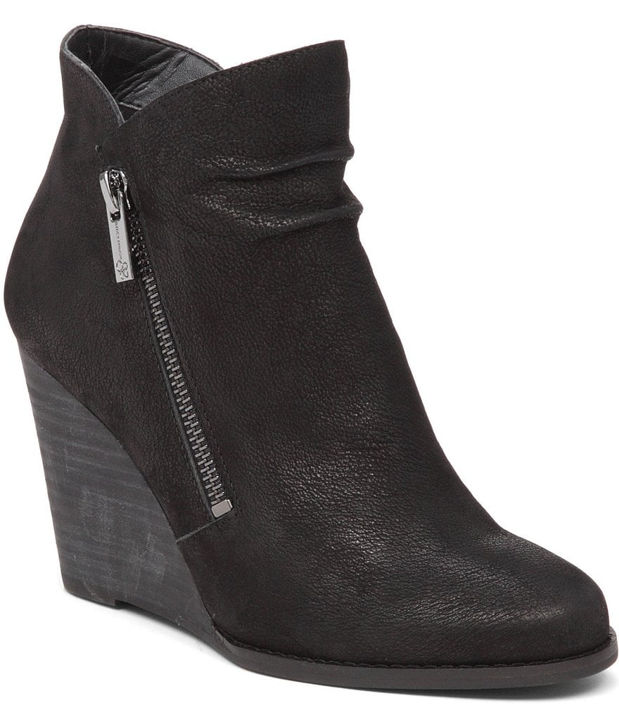 Jessica Simpson Cornella Side Zipper Detail Wedge Ankle Boots
