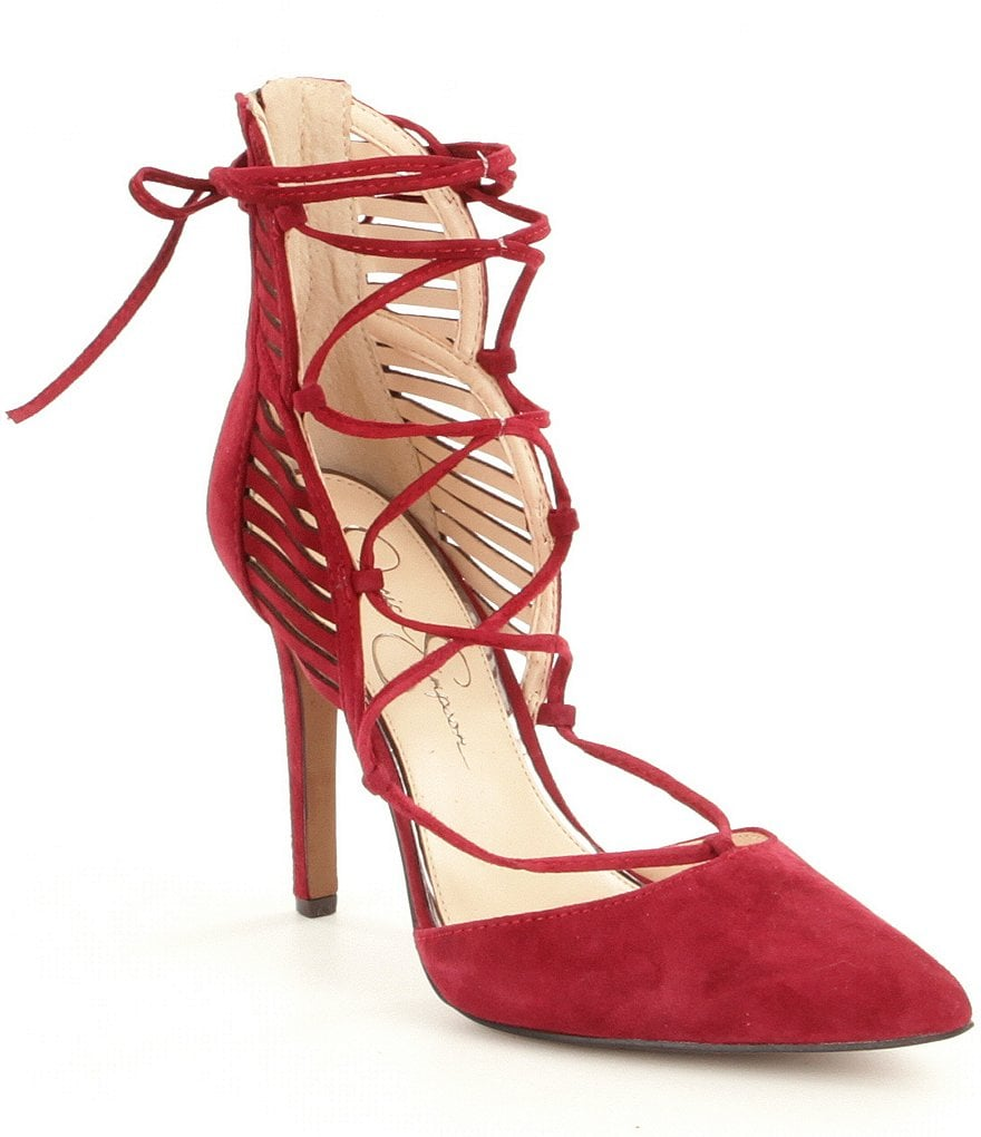 Jessica Simpson Cynessa Lace-Up Suede Pumps