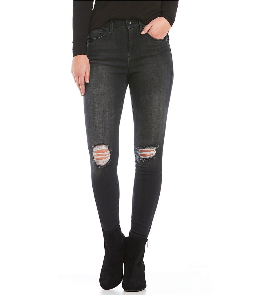 Jessica Simpson Destructed Curvy High-Rise Skinny Jeans