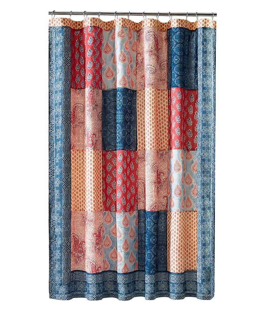 Jessica Simpson Grace Patchwork Shower Curtain Dillards