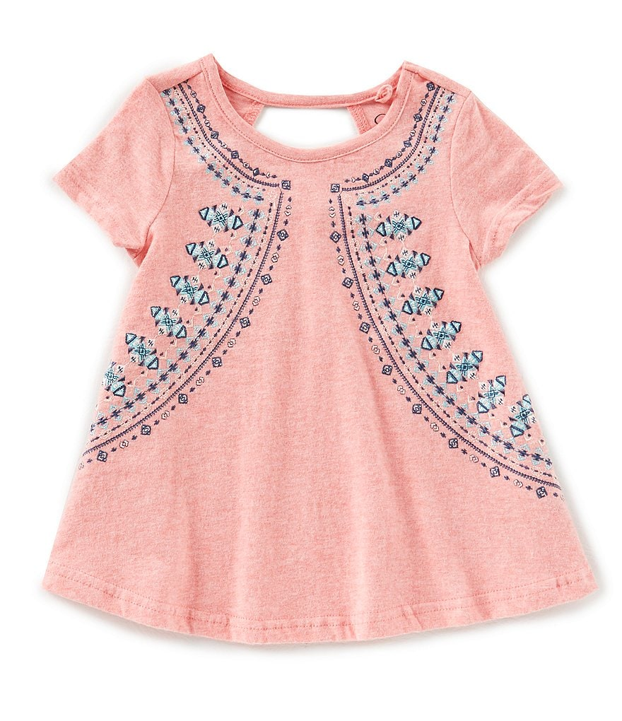 Jessica Simpson Little Girls 2T-6X Embroidered Cut Out Top
