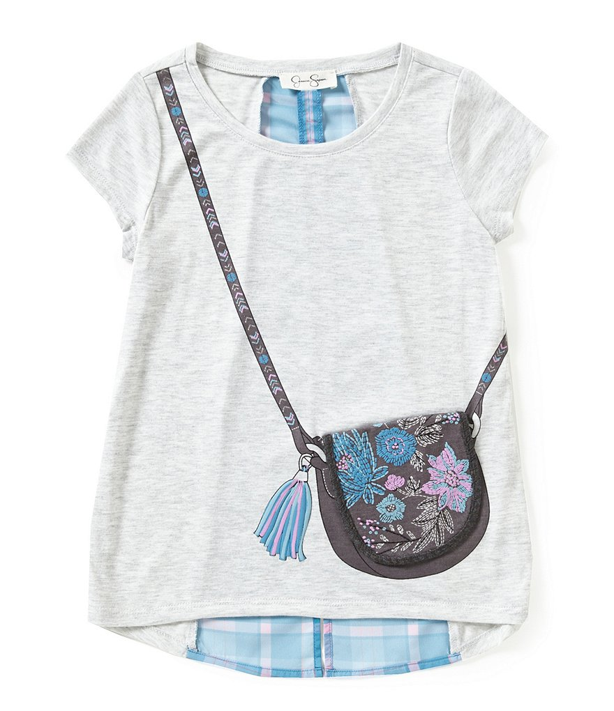 Jessica Simpson Little Girls 2T-6X Nora Pretty Bag Tee