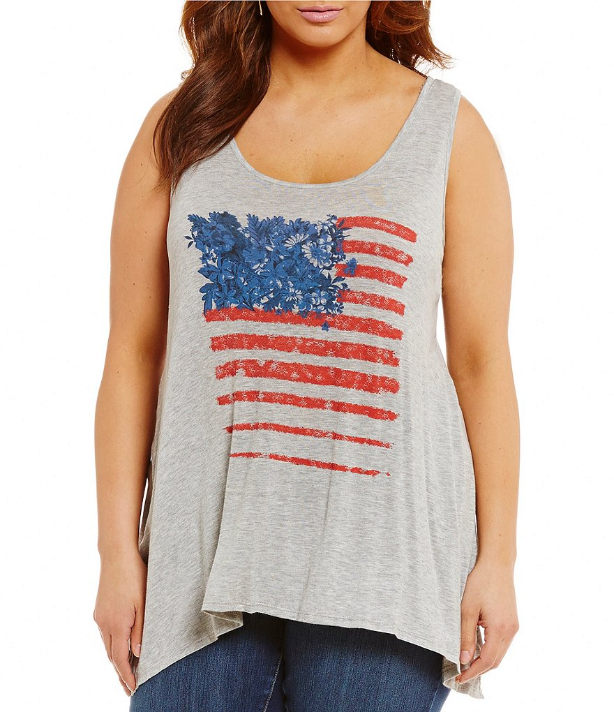 Jessica Simpson Plus Jara Flag Tank