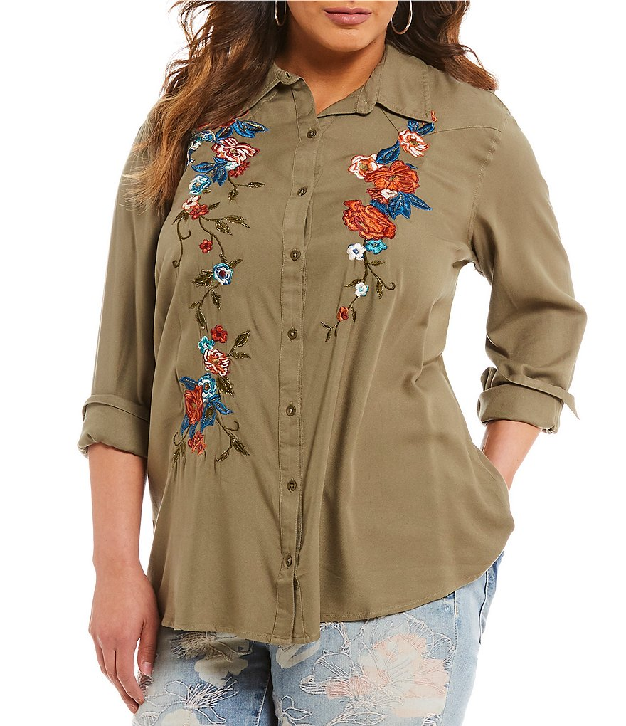 Jessica Simpson Plus Pearl Shirt