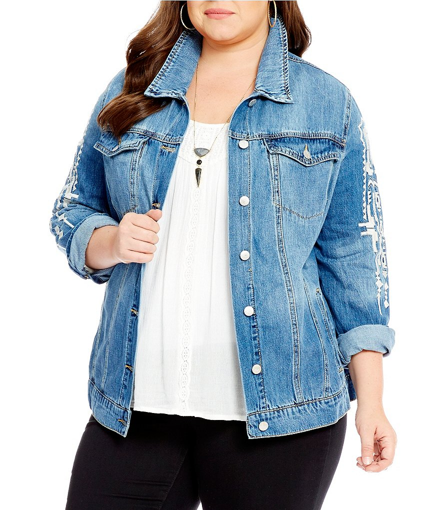 Jessica Simpson Plus Peri Denim Jacket