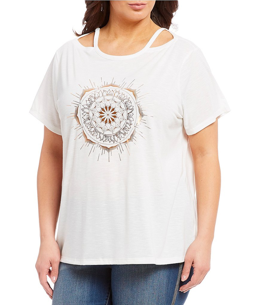 Jessica Simpson Plus Size Graphic Print Tee
