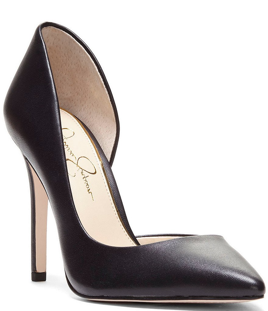 Jessica Simpson Prizma Leather d'Orsay Pumps