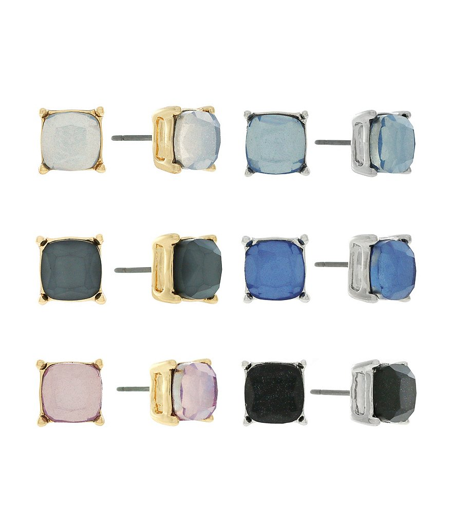 Jessica Simpson Square Stud Earring Set