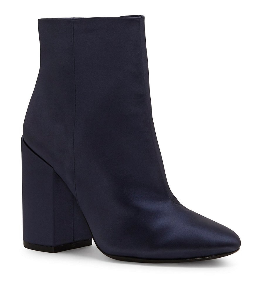 Jessica Simpson Windee Satin Block Heel Ankle Booties
