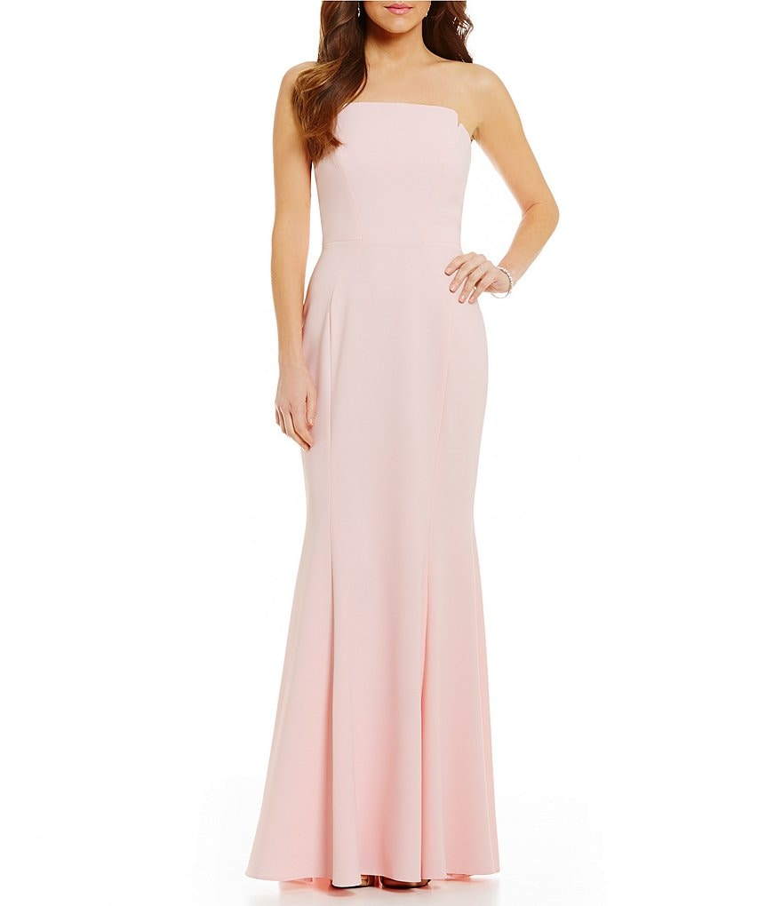 Jill Jill Stuart Long Strapless Fitted Gown