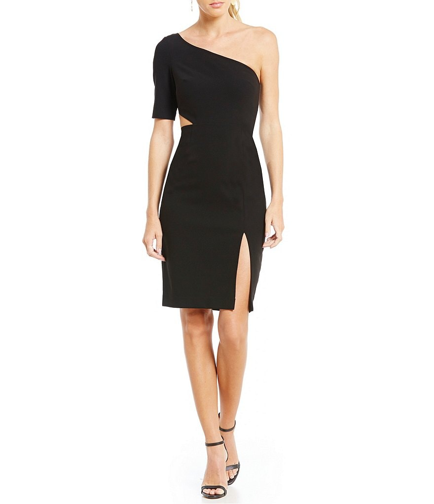Jill Jill Stuart One Shoulder Cut Out Sheath Dress