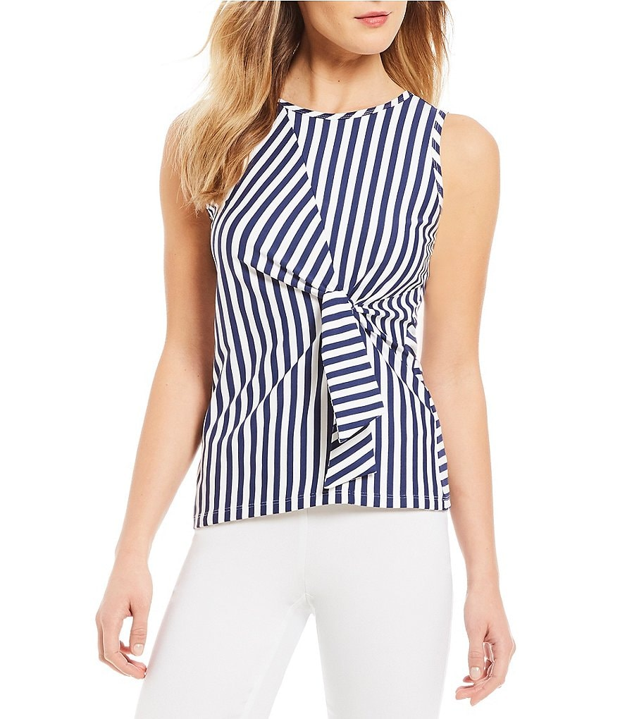 J.McLaughlin Jen Stripe Tie Front Top