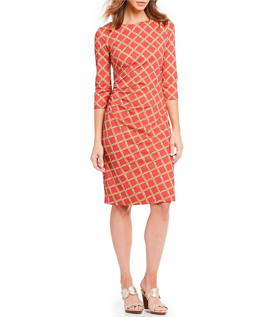 J.McLaughlin Rouched Sage Dress