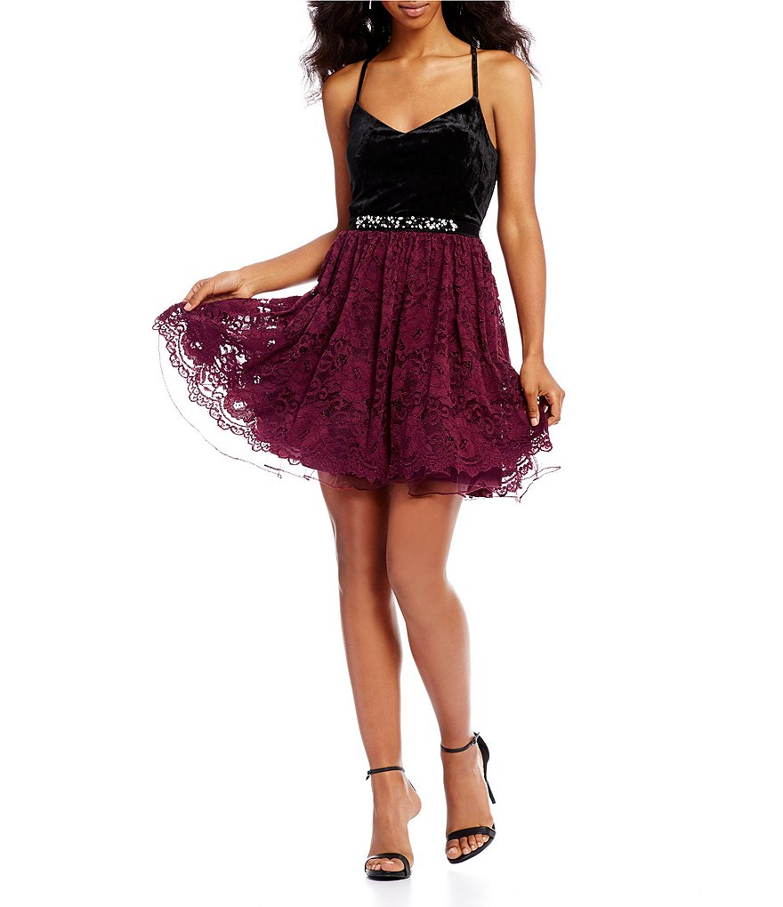 Jodi Kristopher Velvet Bodice Dress