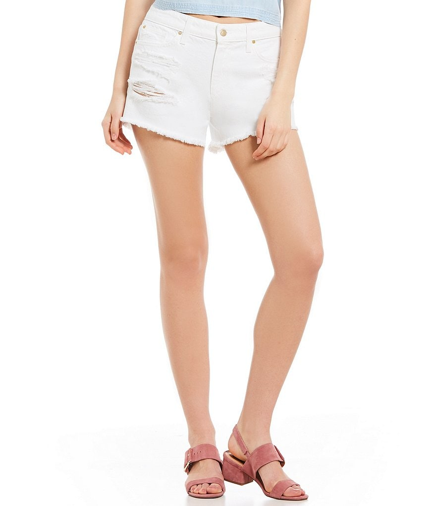 Joe's Jeans Cut Off Frayed Hem Denim Shorts