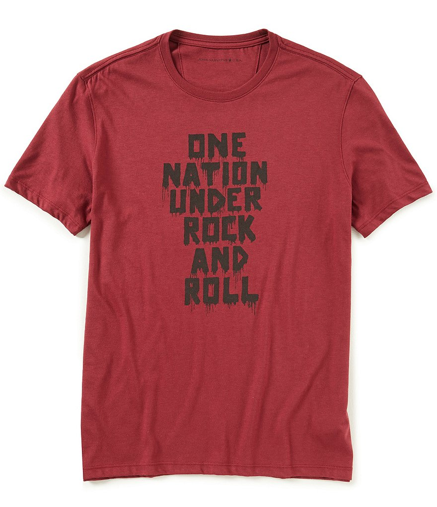John Varvatos Star USA One Nation Under Rock And Roll Short-Sleeve Tee