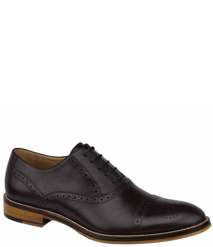 Johnston & Murphy Men's Conard Cap-Toe Wingtip Detail Oxfords