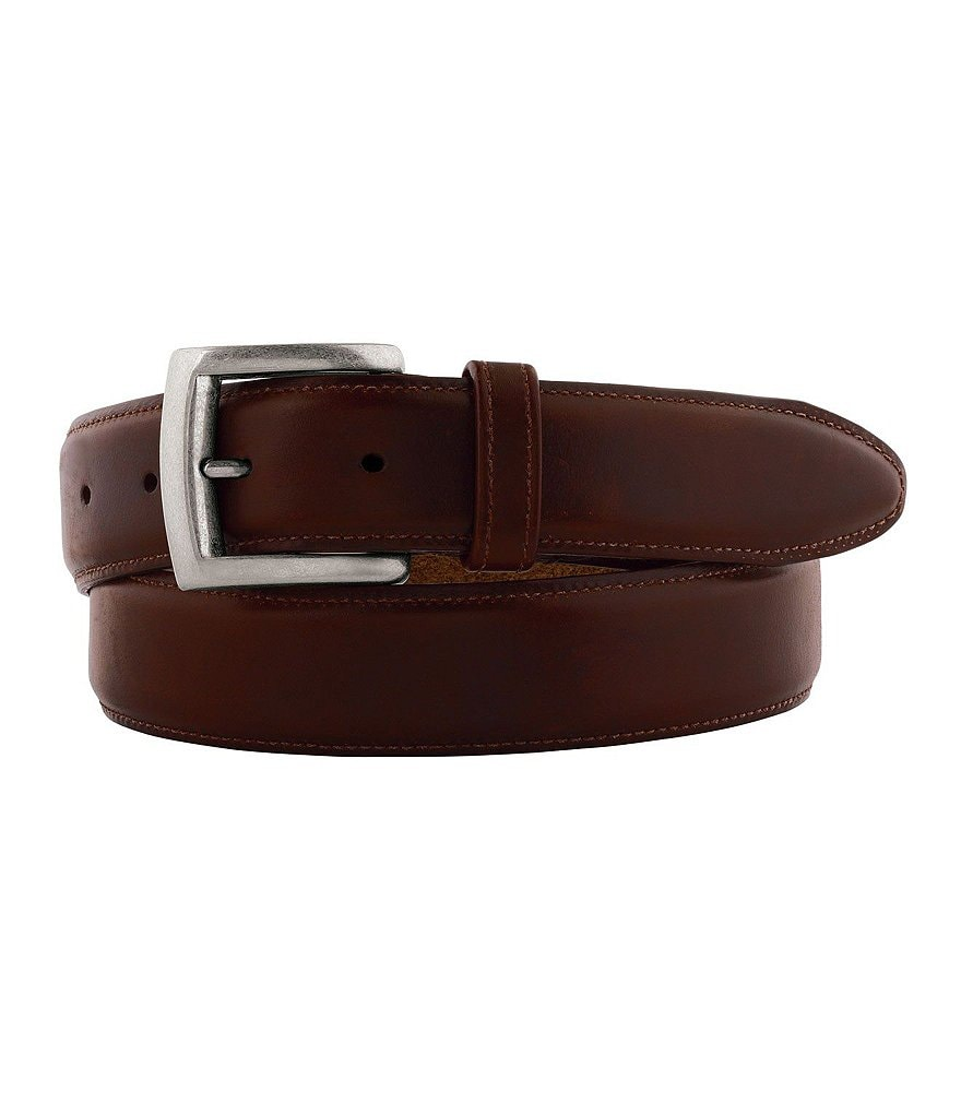 Johnston & Murphy Waxed Leather Belt