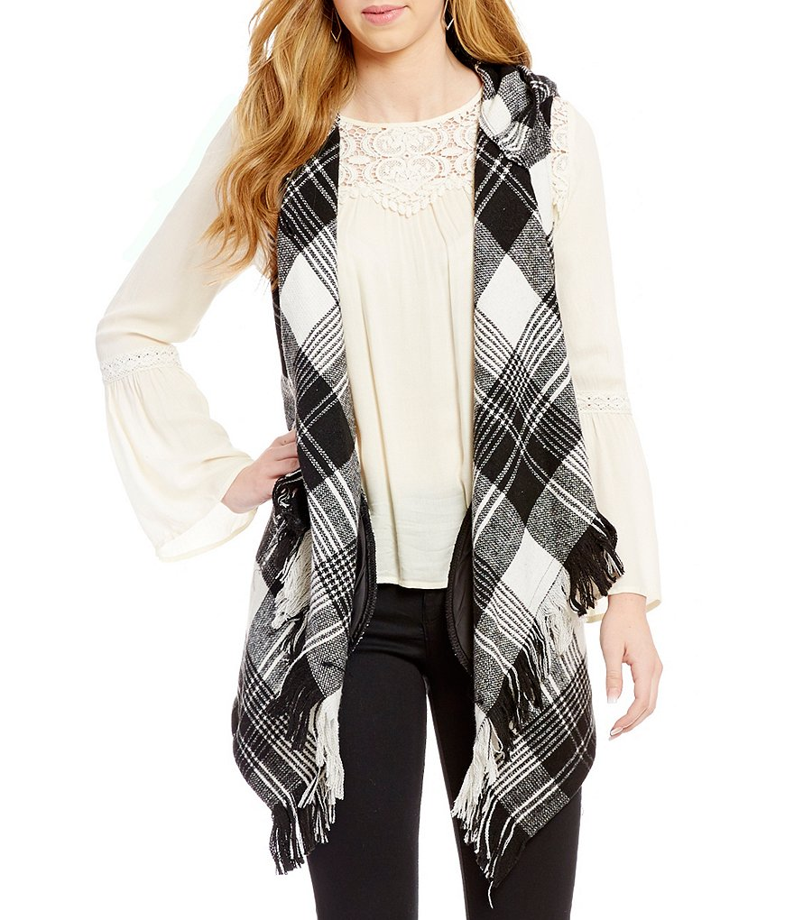 Jolt Plaid Blanket Vest