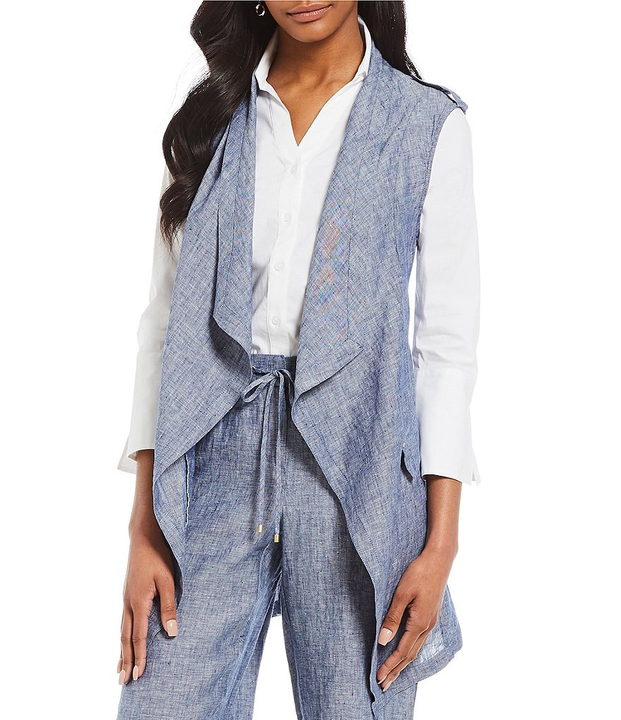 Jones New York Drapey Linen Vest
