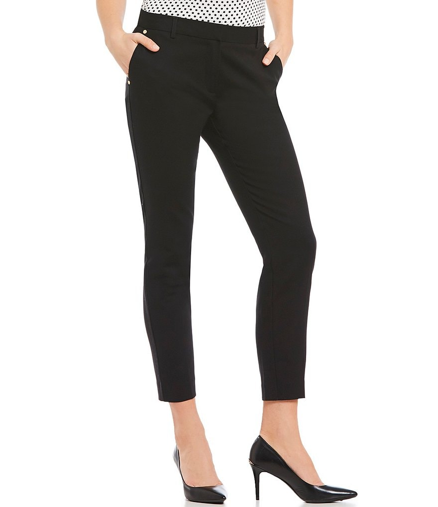 Jones New York Stretch Cotton Grace Tapered Straight-Leg Ankle Pants