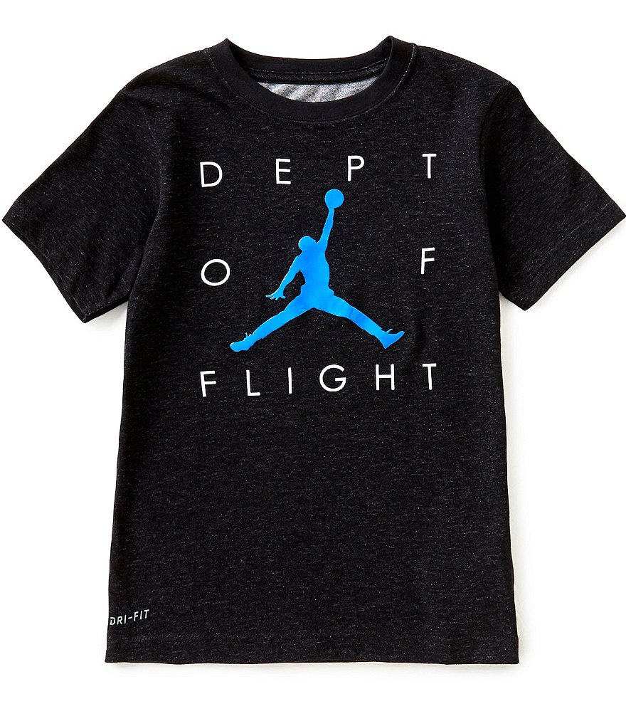 Jordan Big Boys 8-20 Dept of Flight Dri-FIT Tee