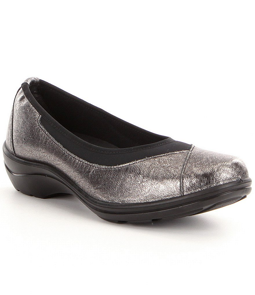 Romika Cassie 21 Metallic Leather Elastic Top-Line Slip-On Flats