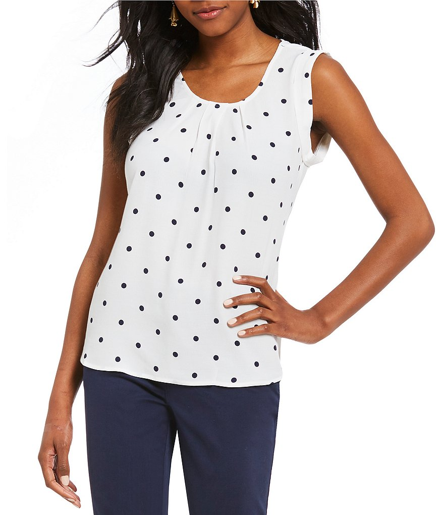 Joules Alyse Polka Dot Shell Top
