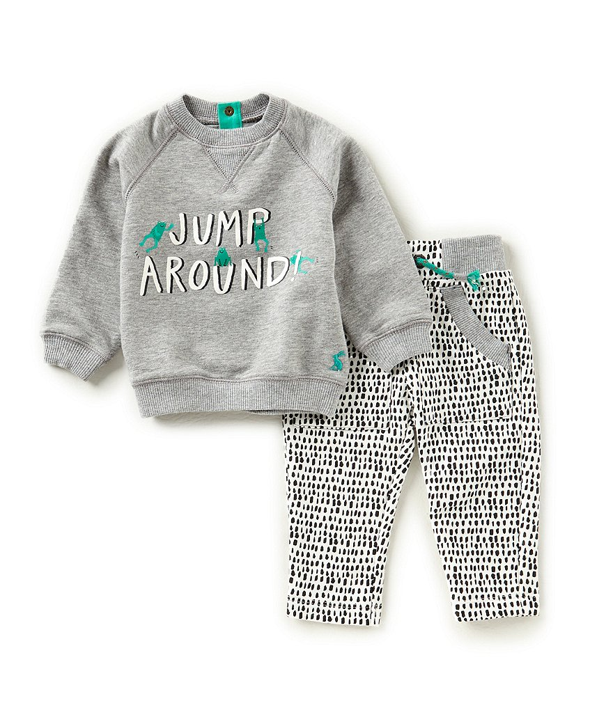 Joules Baby Boys Newborn-24 Months Jump Around Sweater & Patterned Pants Set