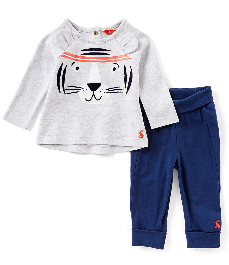 Joules Baby Boys Newborn-24 Months Tiger Raglan-Sleeve Tee & Pants Set