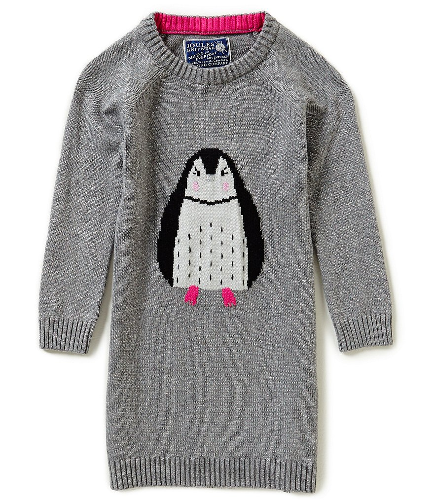 Joules Baby/Little Girls 12 Months-3T Intarsia Penguin Dress