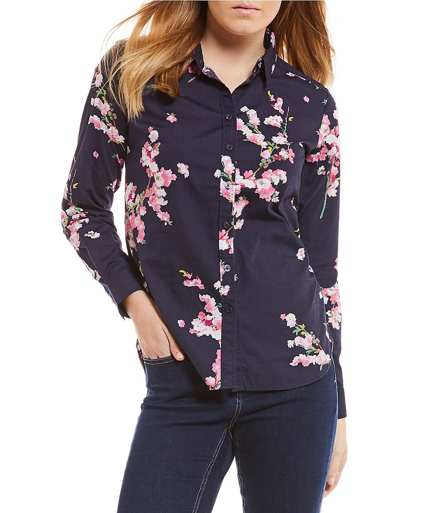 Joules Lucie Printed Button Front Shirt