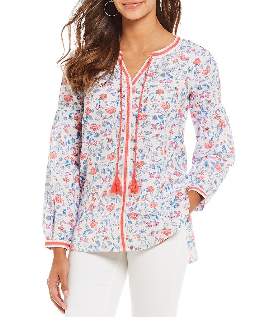 Joules Yolanda Floral Print Embroidered Blouse