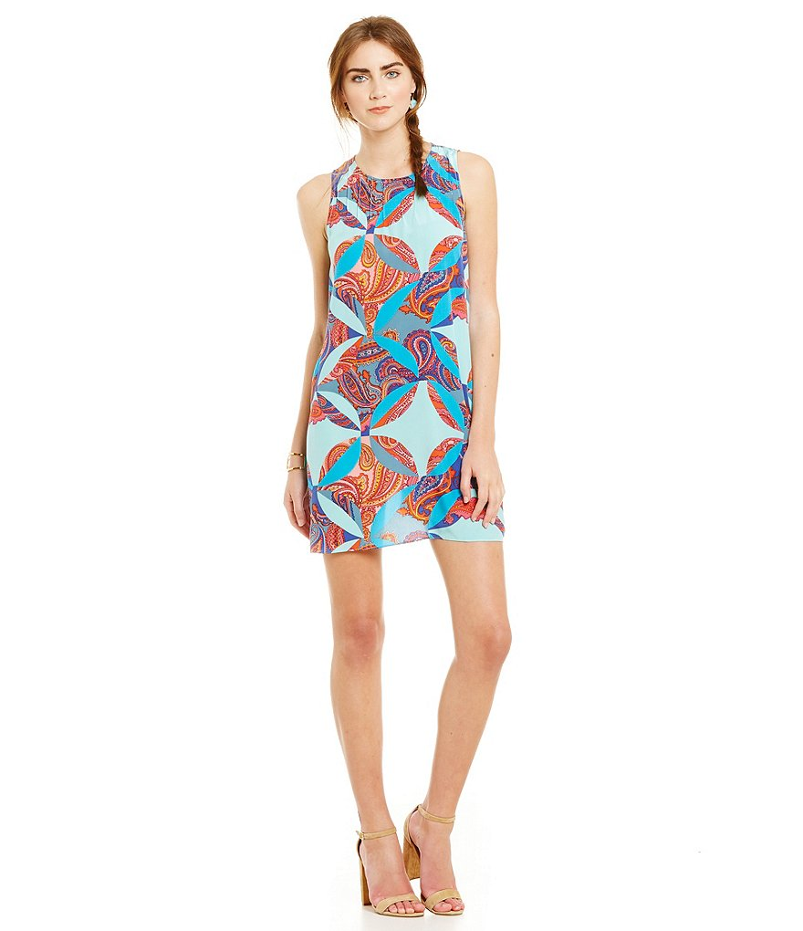 Juicy Couture Silk Carnival Sleeveless Paisley Dress