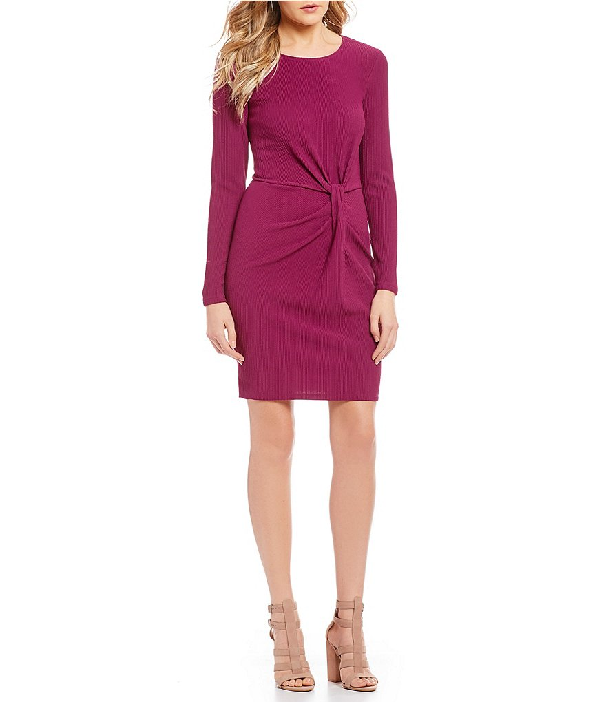 June & Hudson Long Sleeve Side Knot Dress